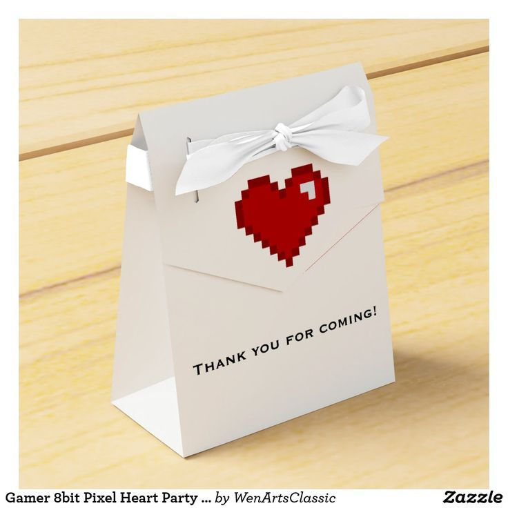 Gamer 8bit Pixel Heart Party Favor Box | Zazzle.com