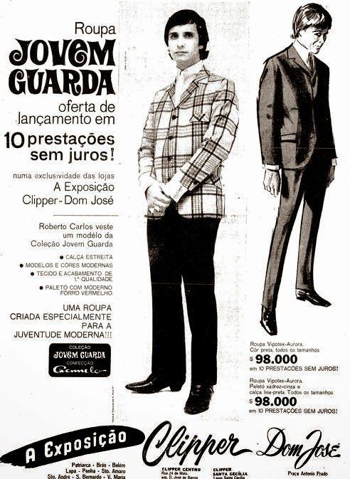Roupa Jovem Guarda - Loja Clipper (1966.11.27 - Roberto Carlos rei da jovem guarda)