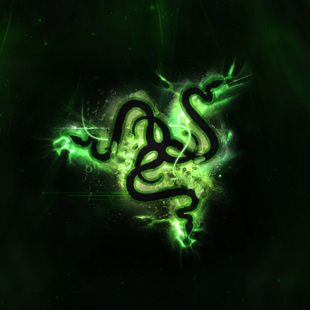 Razer Green Logo Black Phone Wallpaper Wallpaper Green Logo