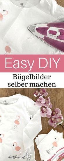 Easy DIY Anleitung Flamingo Bügelbilder einfach selber machen