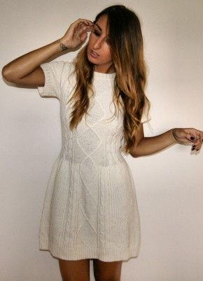 I quite like this ivory cable knit dress...