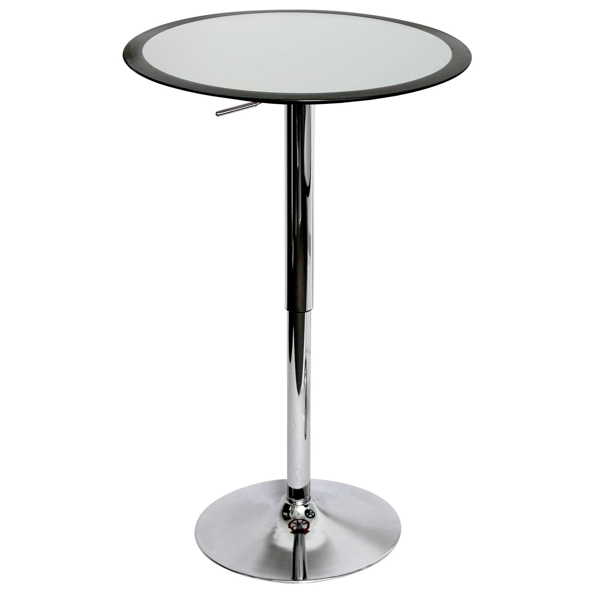 Charming LumiSource Modern Ribbon Bar Table In Silver Black