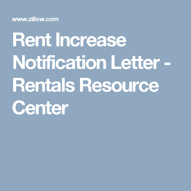 Rent Increase Notification Letter  Renting