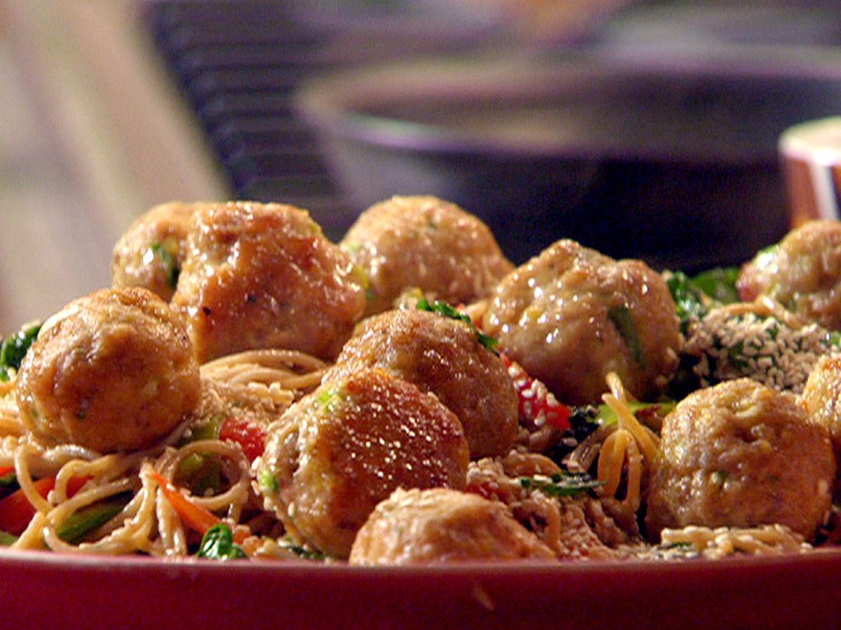 Chinese spaghetti and meatballs recipe rachel ray food and meals chinese spaghetti and meatballs forumfinder Choice Image