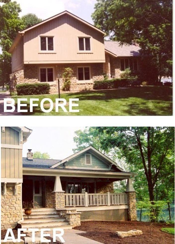 Front Porch With Images Split Level Remodel Exterior Exterior Makeover Split Level Exterior