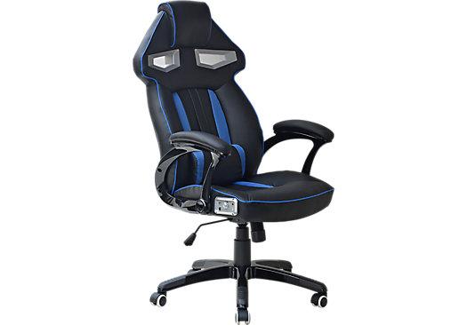 venture quest black blue gaming desk chair products gaming desk rh pinterest com