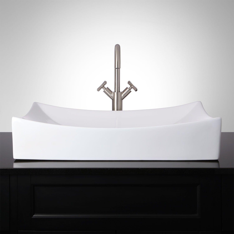galle rectangular porcelain vessel sink bathroom rh pinterest de