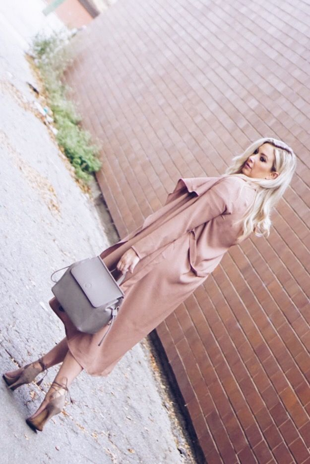 Blush Duster + Grey Accessories