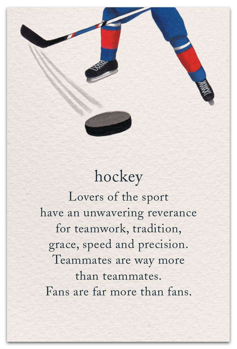 Hockey Birthday Card Cardthartic Com Meaning Of Life Card Sayings Pretty Words