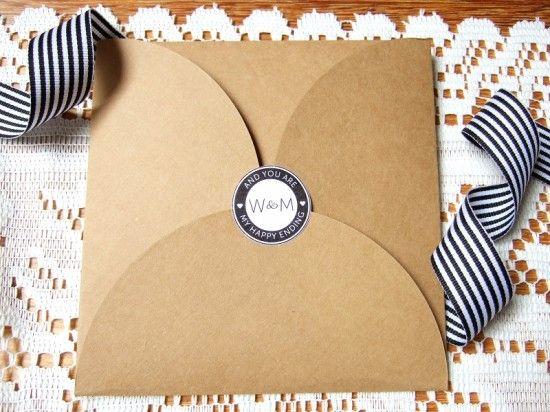 DIY Wedding Envelope Seals