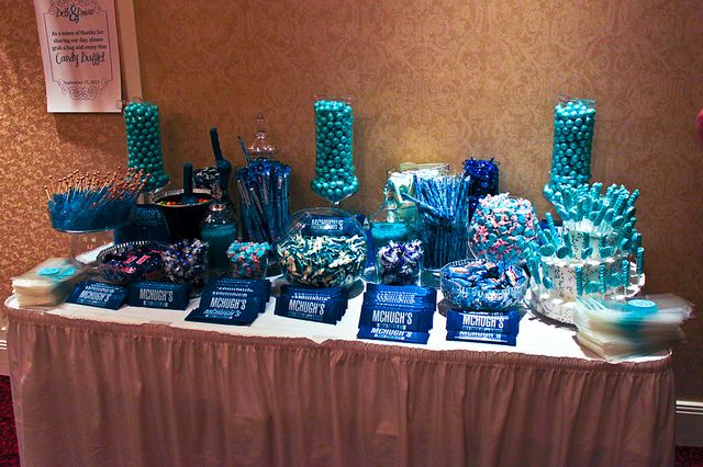 Blue Candy Buffet Gold Candy Buffet Blue Candy Buffet Birthday Candy Table
