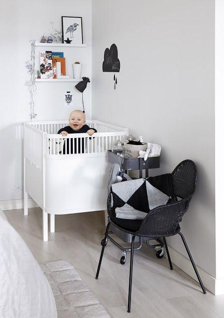 lilleman+sängyssä Quarto de criança, Preto e branco