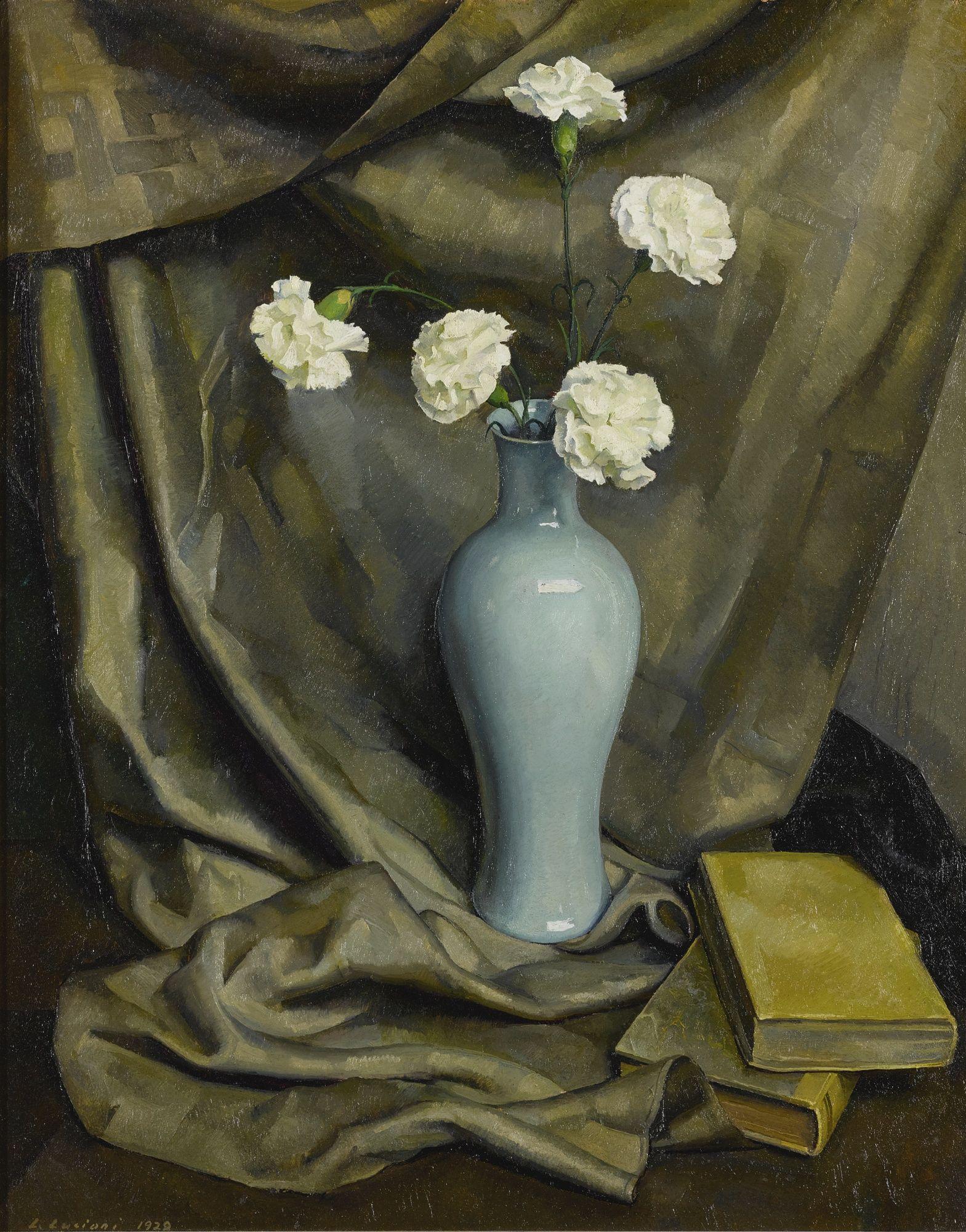 Luigi Lucioni Vase Of Carnatation Sotheby S Painting American Art Global Art