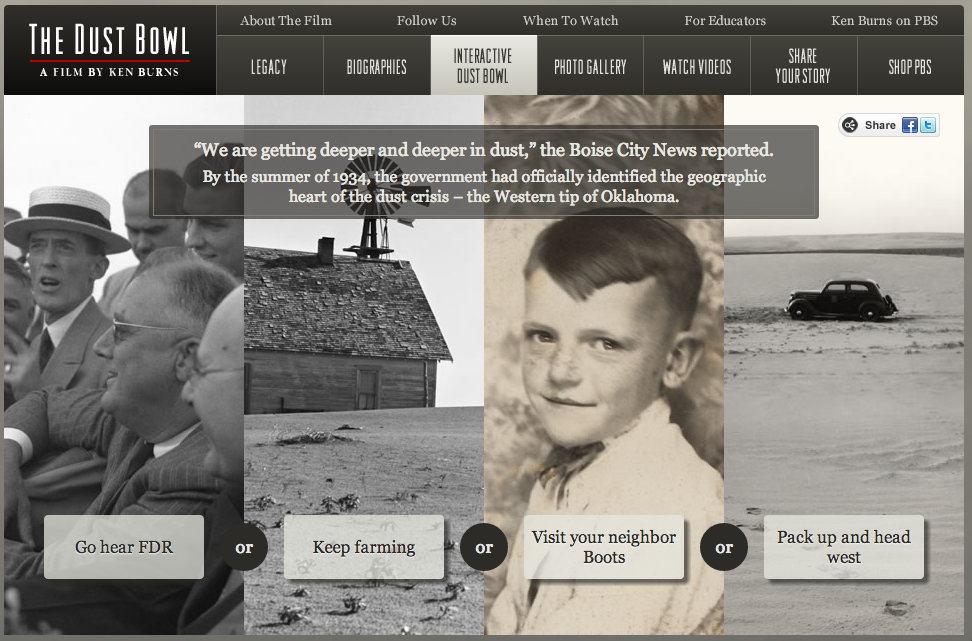 An Interactive Story About the Dust Bowl Dust bowl