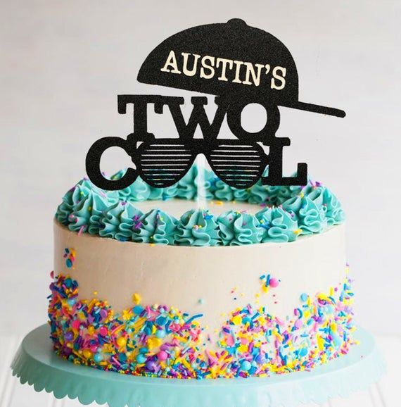Personalised Name Happy Birthday Writing Boys Girls Cake Topper Party Decoration