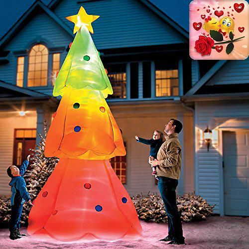 Giant Inflatable Color Changing Christmas Tree Yard decorations - inflatable christmas yard decorations