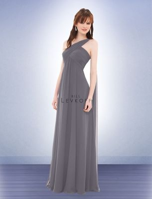 39937d3c447 Bill Levkoff- Bridesmaid Dress Style 675 (Pewter