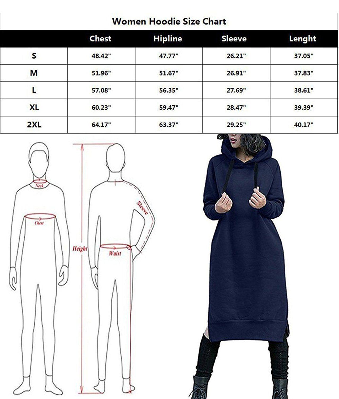 3ce7352126b NUTEXROL Women s Thickening Long Fleece Sweatshirt String Hoodie Dress  Pullover Plus Size