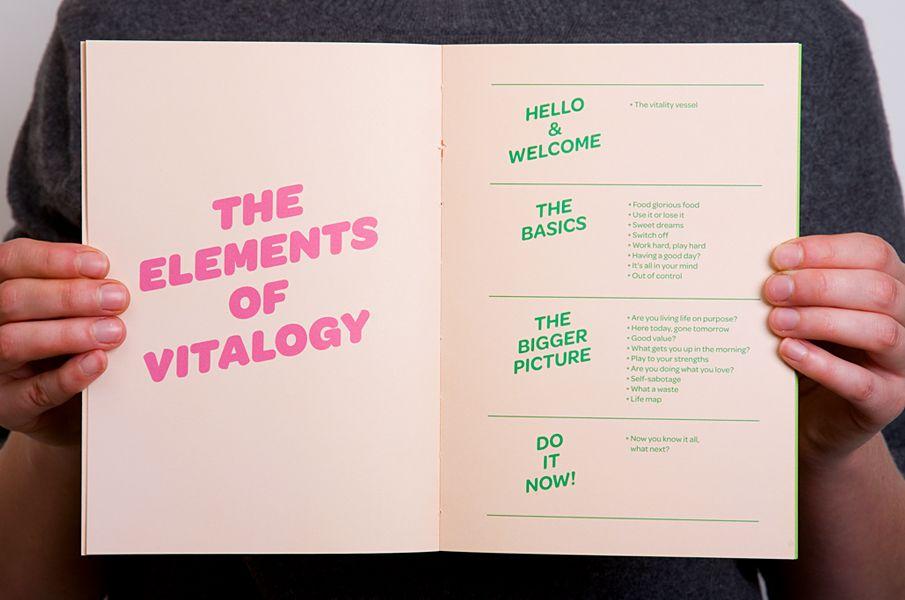 Vitalogy book - David Grbac design Pinterest Employee handbook