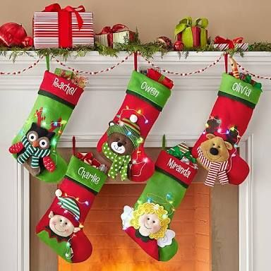 image result for kids christmas stockings
