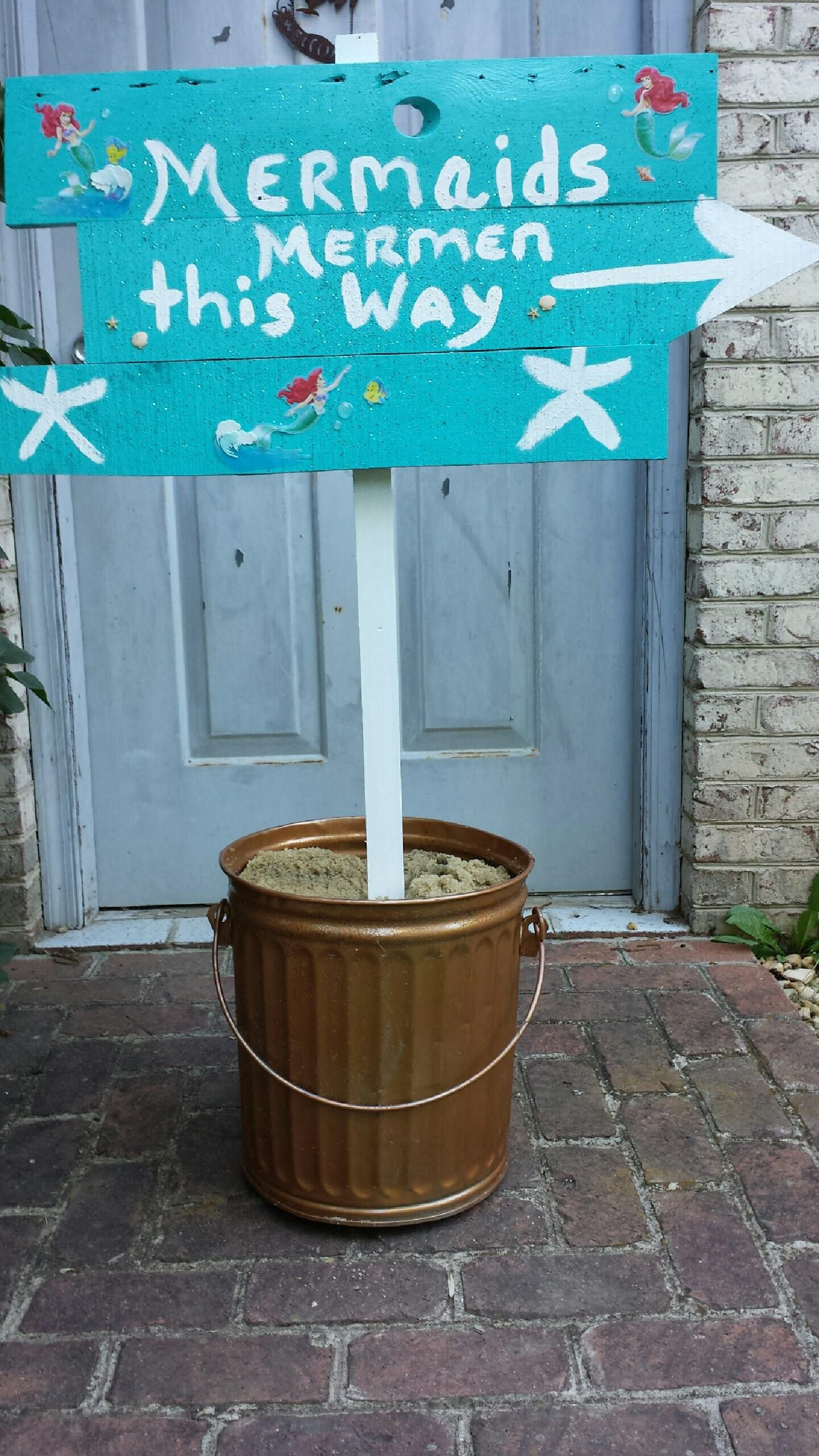"""""""The Little Mermaid"""" party sign!"""