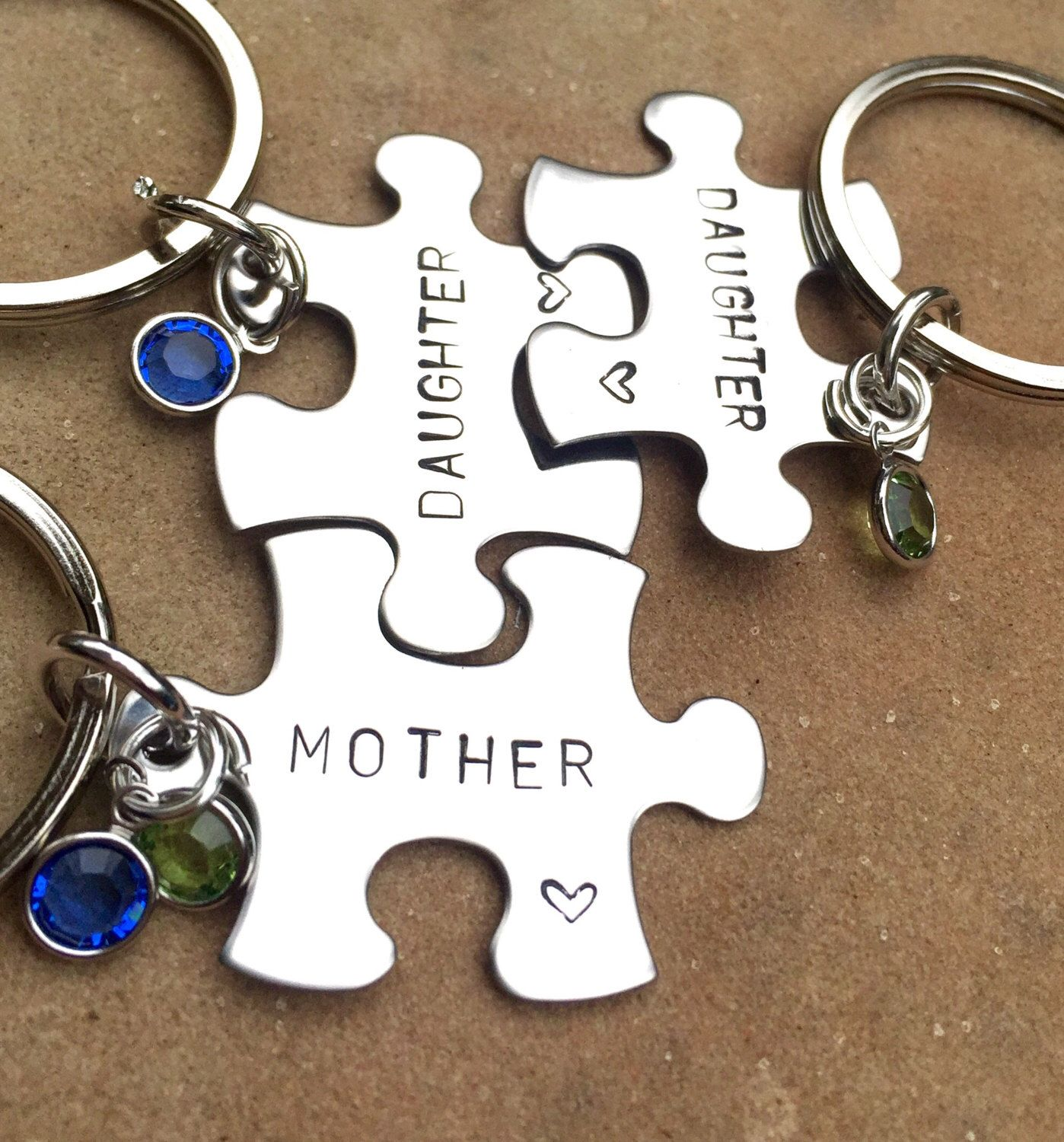 Mother daughter gifts mothers day gifts puzzle key
