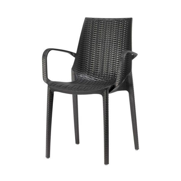 Outdoor Stuhl Mit Armlehnen Dino, Anthrazit   Stühle   Outdoor