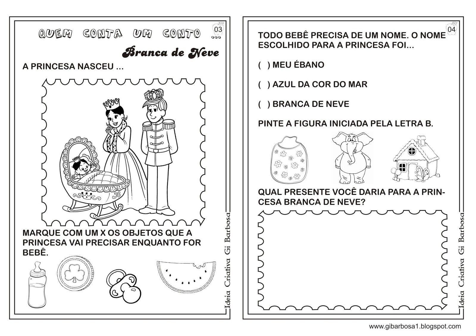 Well-known Caderno de Atividades Branca de Neve Projeto Contos de Fada  XK97