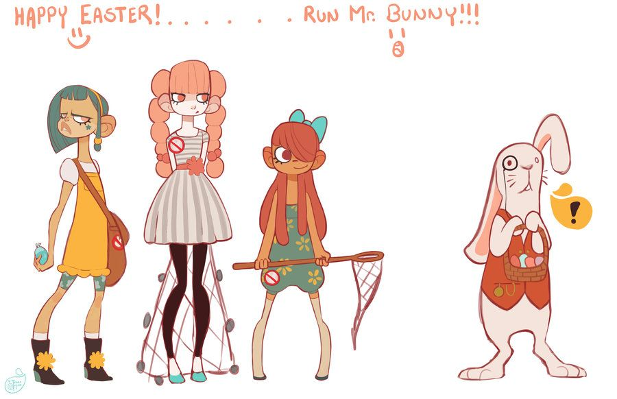 Character Design Group : The bunny brigade is a group of anti easter children
