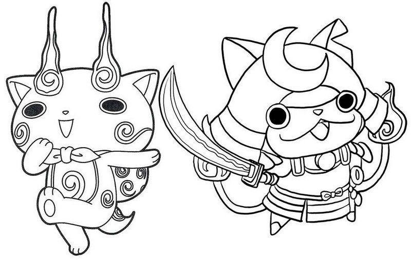 Shogunyan And Komasan Yo Kai Watch Coloring Page Coloring Pages Apple Coloring Pages Coloring Pages For Kids