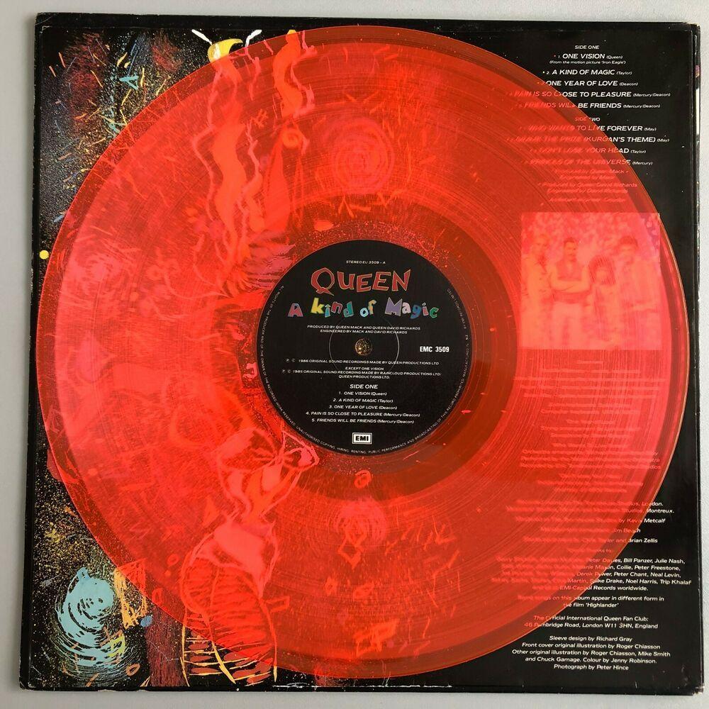 Queen A Kind Of Magic New Zealand Orange Vinyl Emi 1986 Very Rare A Kind Of Magic Queen New Zealand