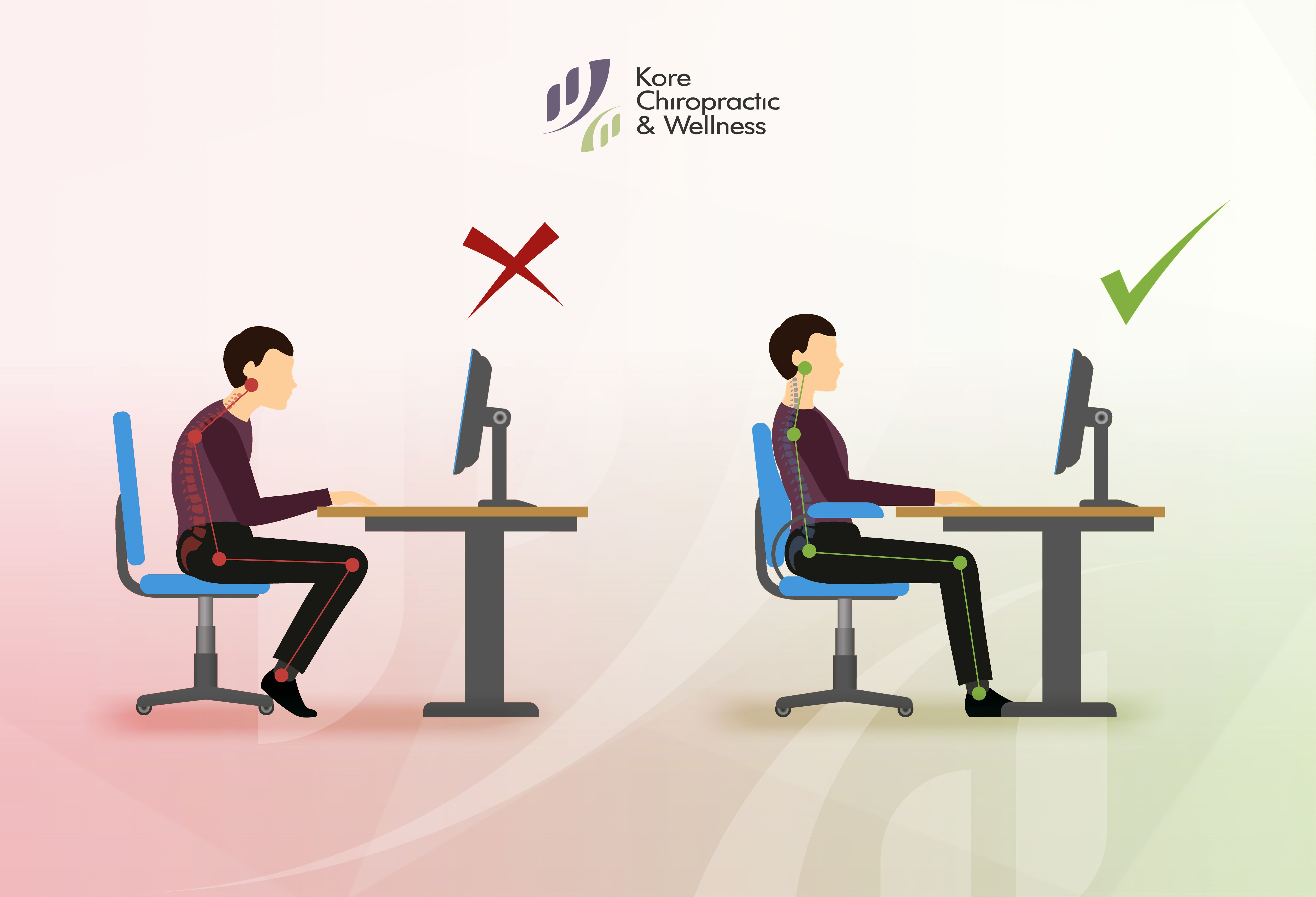 Proper Back Support Arguably The Most Important Part Of Improving Your Posture At Work Is Ensuring Tha In 2020 Chiropractic Wellness Chiropractic Massage Therapy