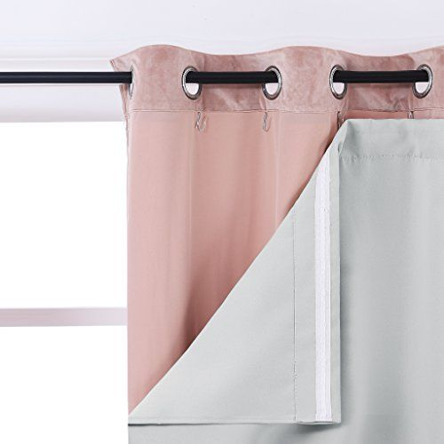 Nicetown Thermal Insulated Rod Pocket Blackout Curtain Liners