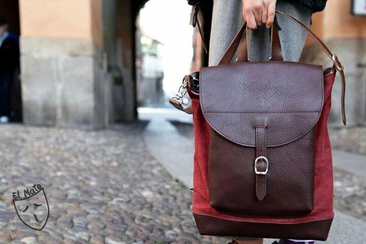 Borsa zaino 2 in 1!!! 2 in 1 backpack bag! Made in italy by el Mato