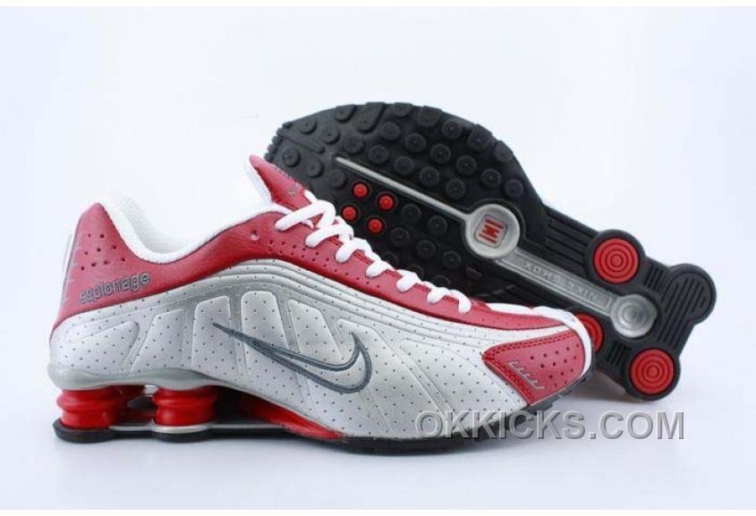 Nike Shox R4 White Silver Red