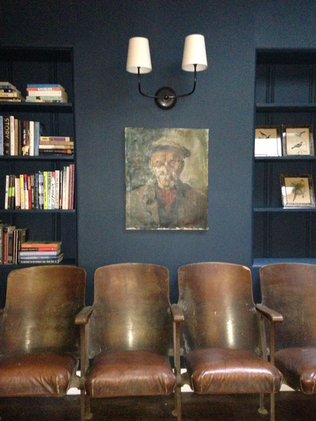Wall color: Hague Blue by Farrow and Ball. Design: Emily ...