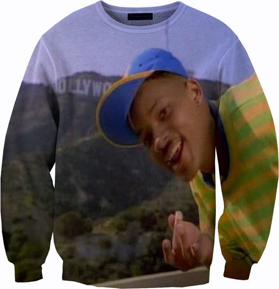 Elegant Will Smith Fresh Prince Of Bel Air Sweater Crew by YeahWhateverz
