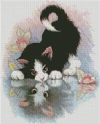 """Résultat de recherche d'images pour """"point de croix chats gratuit"""""""