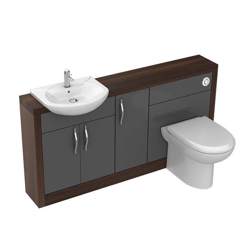 Lucido 1500 Fitted Bathroom Furniture Pack Grey | JAX ...