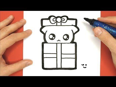 Come Disegnare Un Gatto In Un Regalo Per Natale Youtube
