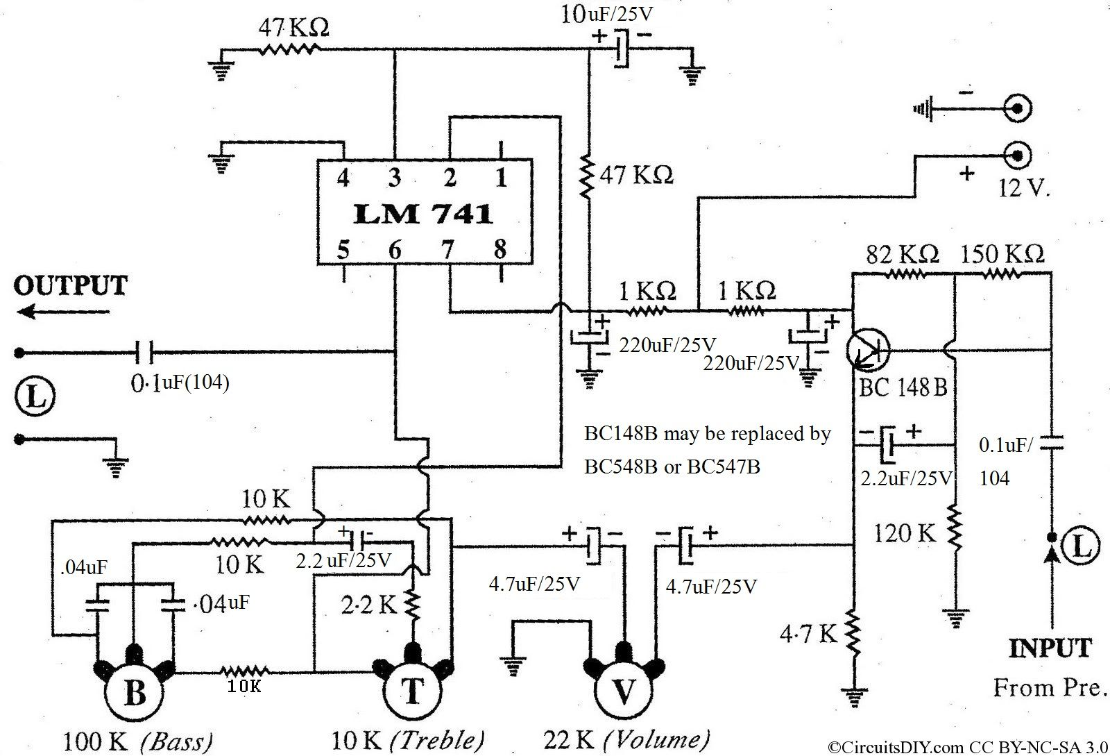 small resolution of low cost effective bass treble circuit using op amp 741 circuits diy