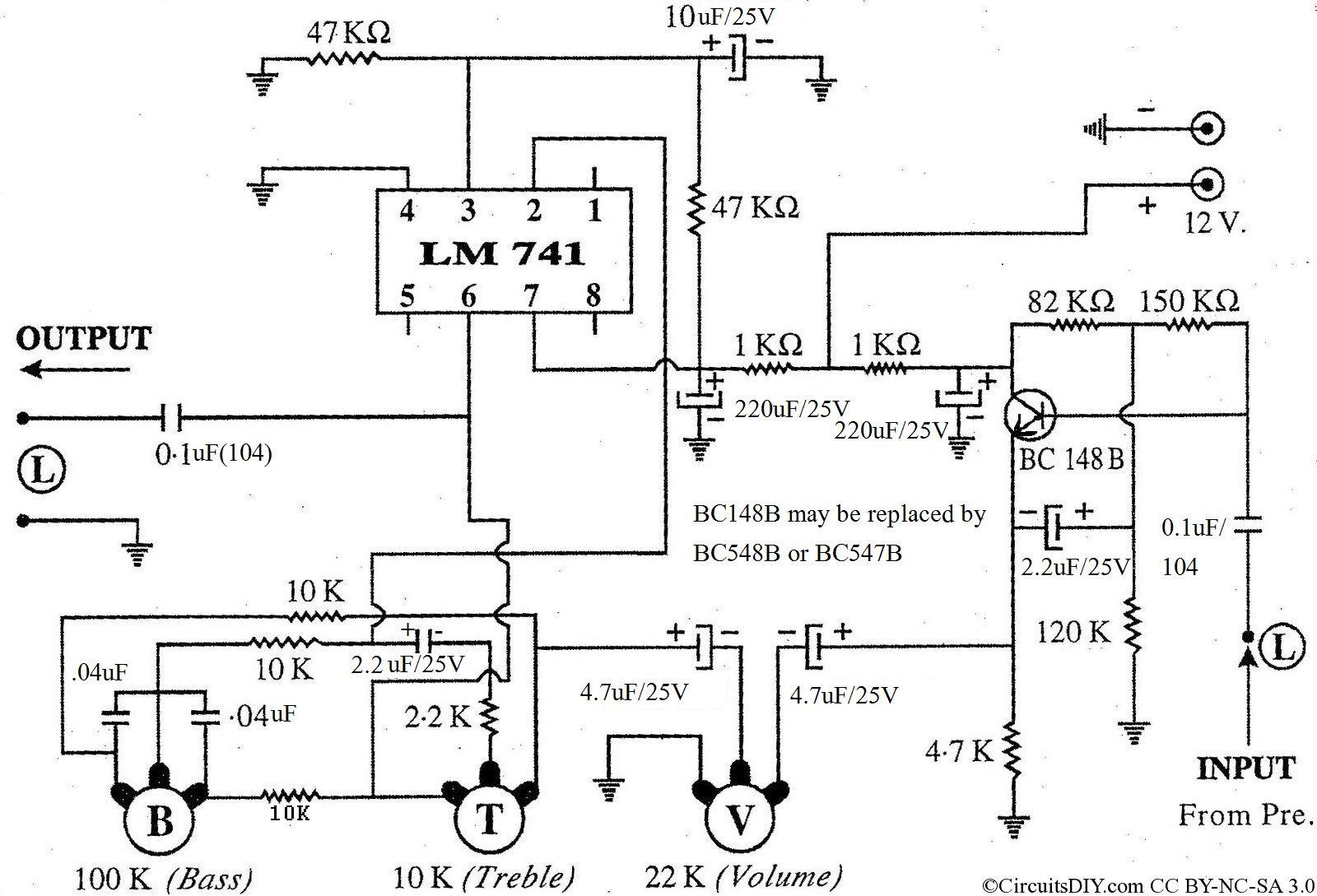 medium resolution of low cost effective bass treble circuit using op amp 741 circuits diy