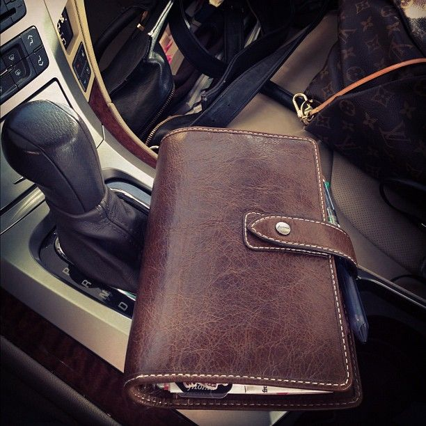 Ochre Malden going for a ride…well, I was parked at the time. #filofax #filofaxlove