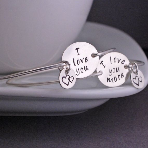 I Love You More Mother Daughter Bracelets Sterling Silver Mom And Jewelry Gift Set