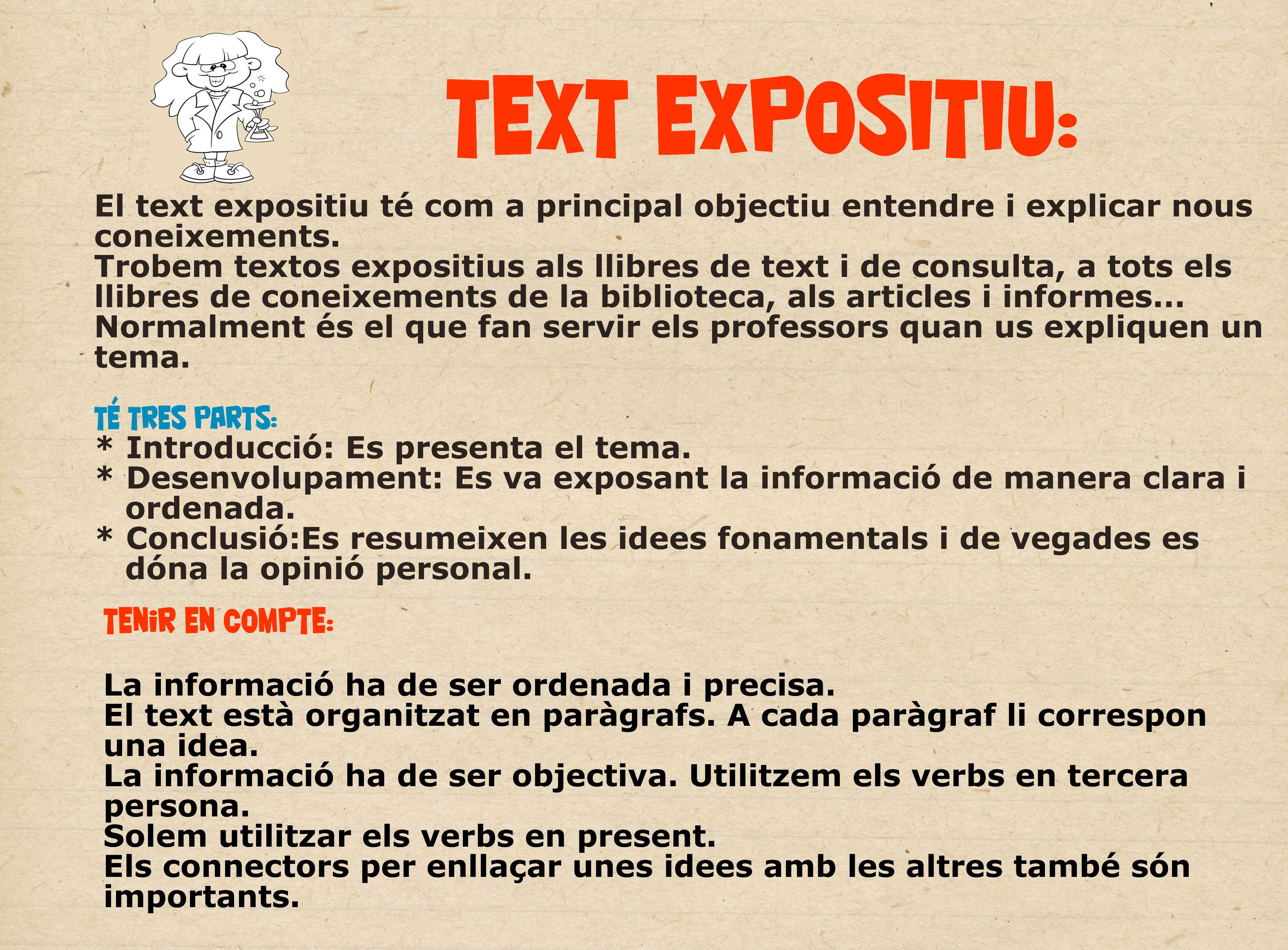 Característiques Text Expositiu  Resume Writing Classes
