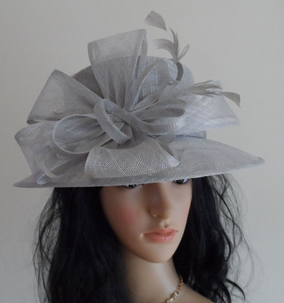 SILVER GREY wedding hat mother oF the bride FORMAL OCCASION MOTHER ... 4396a9b8eb6