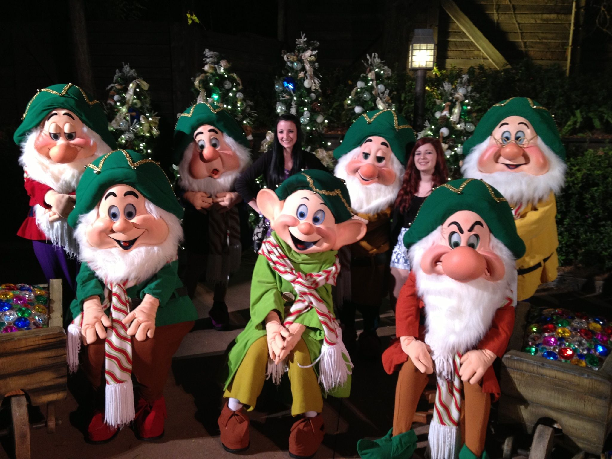 Mickeys Very Merry Christmas Party Is A Must You Can Get A Picture With All 7 Dwarfs Disneyland Christmas Mickeys Christmas Party Mickey Christmas