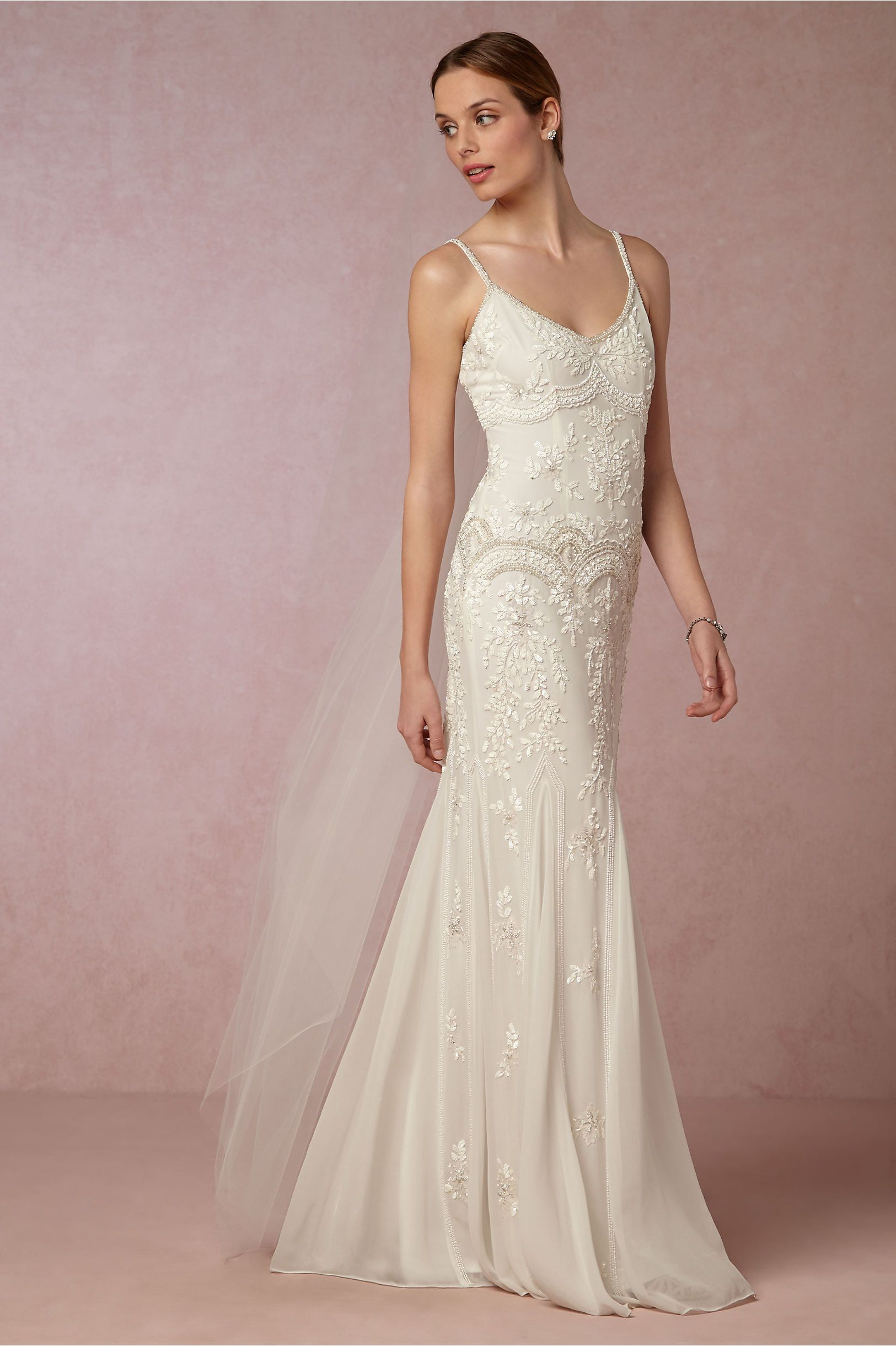 Embellished Sheath Wedding Dress Naomi Gown From Bhldn