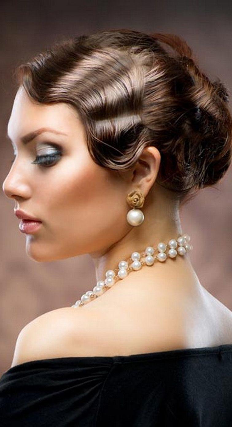 Nostalgische Frisur Im 20er Jahre Style Vintage Hairstyles Vintage Wedding Hair Finger Wave Hair