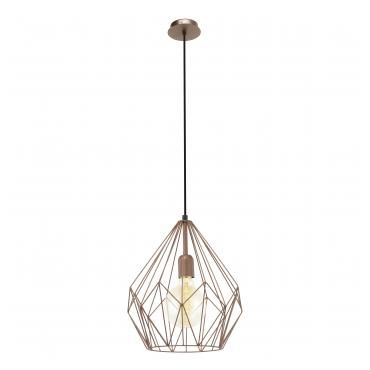Scandinavian vintage suspension lamp in chrome by